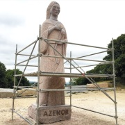 Sculpture under construction at La Vallee des Saints