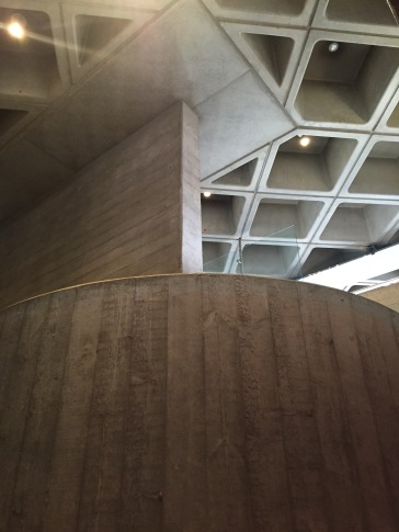Stair and ceiling at the National Theatre Southbank London