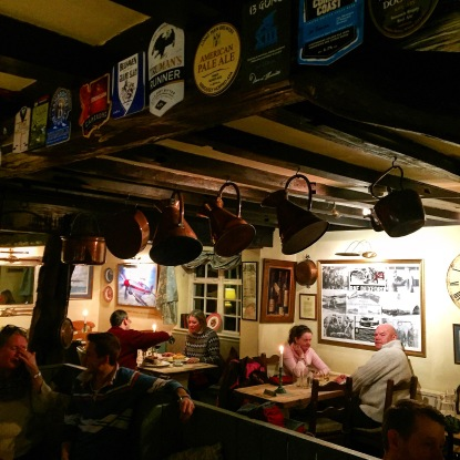 Diners at the John Barleycorn pub in Duxford