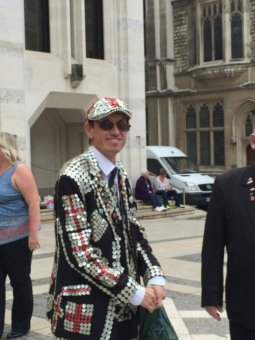Cockney pearly King london guildhall