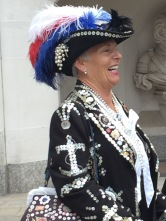 Cockney pearly queen London Guildhall