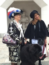 Pearly Queen and Dog, Harvest festival Guildhall 2015