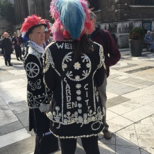 Pearly Queen pretender Guildhall london Harvest Festival 2015