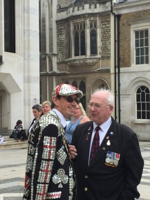 Pearly King, Guildhall London Harvest Festival