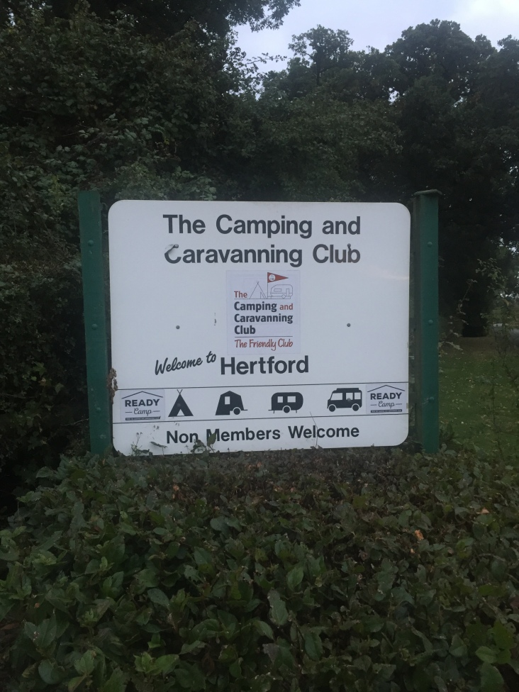 Camping and Caravanning Club site at Hertford