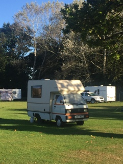 Bedford Bambi Campervan at Hertford Camping and Caravanning Club site