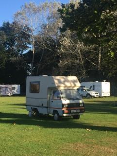 Bedford Bambi Campervan at Hertford Camping and Caravanning Club site