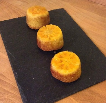 Upside down clementine cakelets