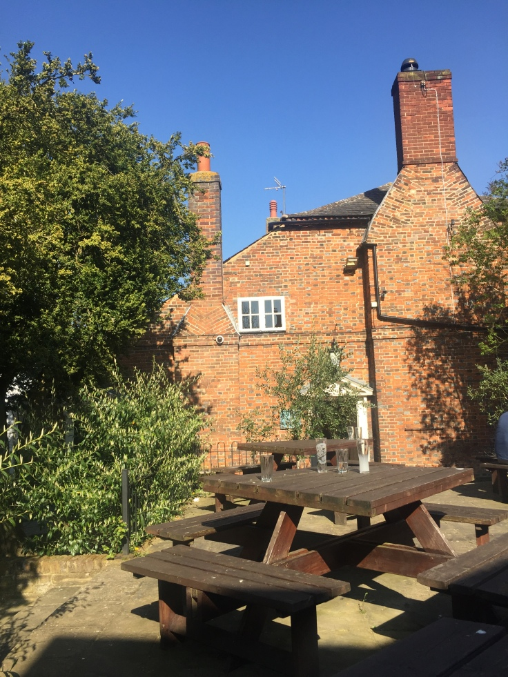 Three Tuns at Ashwell, Beer Garden