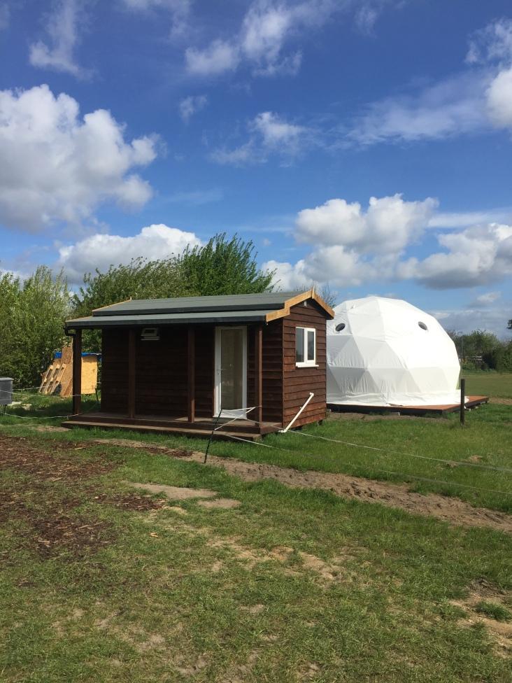 New washroom at Gayton Farm Campsite, Horningsea, Cambridge