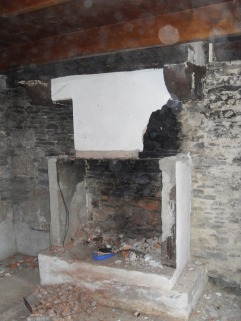Kernolou 2009 Old Fireplace being demolished
