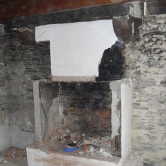 Kernolou 2009 Old Fireplace being demolished