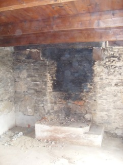 Kernolou 2009 Old Fireplace now gone