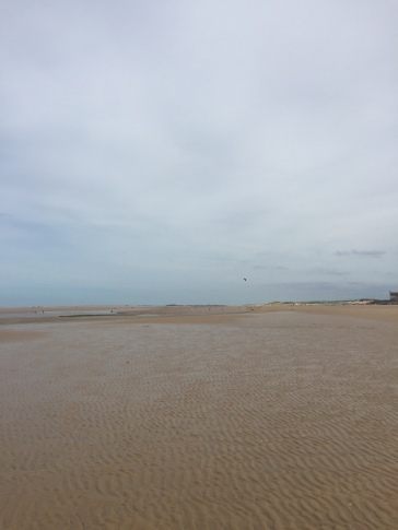 Tides out at Brancaster beach