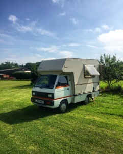 Bambi campervan at the Lodge Farm Meadow campsite